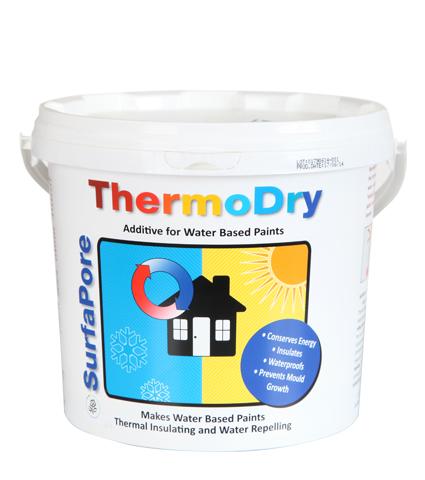 טרמודריי -צבע מבודד טרמית על בסיס ננו טכנולוגיה Surfapore ThermoDry